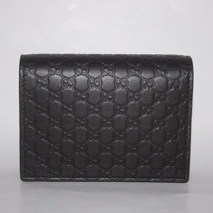 Gucci Micro Gg Men's Card Case Wallet